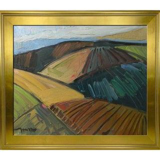 Jose Trujillo - 16x20 Large Framed California Impressionist Buffalo Oil Painting For Sale