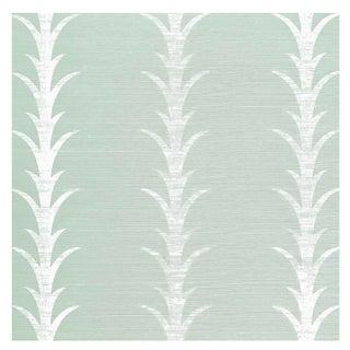 Schumacher X Celerie Kemble Acanthus Stripe Sample Wallpaper For Sale