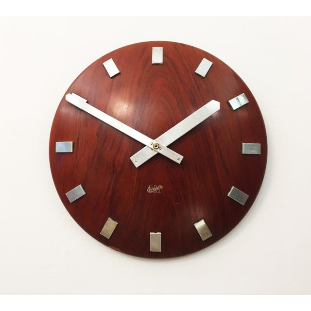 Mid-Century Wall Clock by LM Ericsson, 1962 For Sale - Image 6 of 6