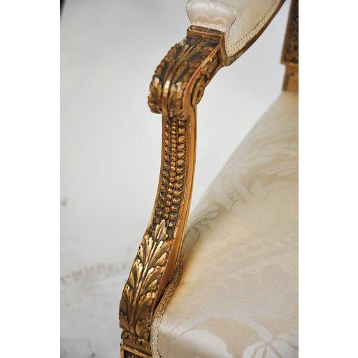 Louis XVI Gilded Settee For Sale In Atlanta - Image 6 of 11