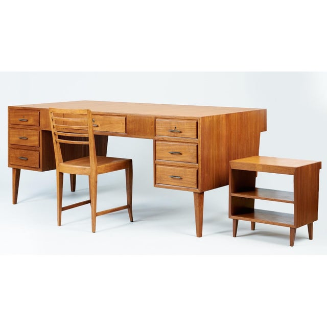 1950s Mid-Century Modern Gio Ponti Monumental Desk and Chair Set - 2 Pieces For Sale - Image 11 of 11