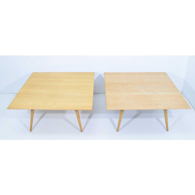 Maple Paul McCobb Planner Group Maple Coffee Tables - a Pair For Sale - Image 7 of 11