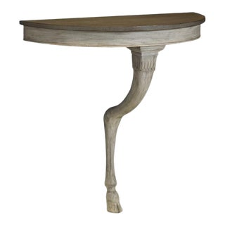 Mary McDonald for Chaddock Olympia Demilune Table Bleached For Sale