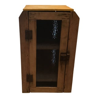 Early 1900s Antique Handmade Medicine Cabinet For Sale