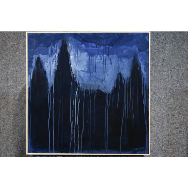 "Black Stephen Remick ""Abbey of the Pines"" Contemporary Expressionist Painting For Sale - Image 8 of 10"