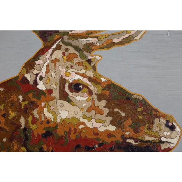 """Tule Elk"" Oil on Board 2017 For Sale - Image 5 of 7"