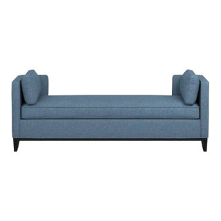 Williams Sonoma Light Blue Upholstered Daybed Sofa