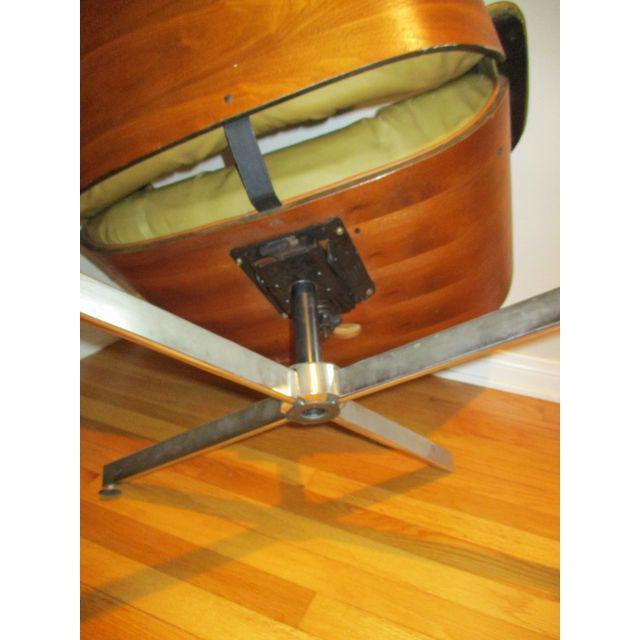 Frank Doerner Mid-Century Modern Chair & Ottoman Set Selig Plycraft Style - Image 9 of 11