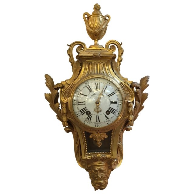 Rare French Louis XVI Gilt Bronze Cartel - Image 1 of 10