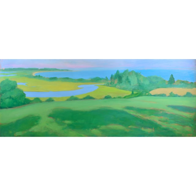 "Large 32"" X 80"" Contemporary Painting, ""Summertime by the Ocean"", by Stephen Remick For Sale"