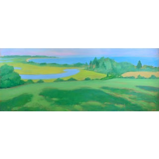 "Large Contemporary Painting, ""Summertime by the Ocean"", by Stephen Remick For Sale"