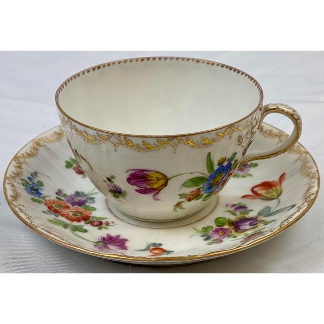 Antique 19th Century Richard Klemm Dresden Porcelain Demitasse Cup & Saucer For Sale - Image 9 of 10