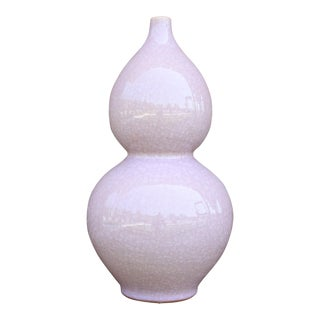 Lavender Crackle Finish Vase For Sale