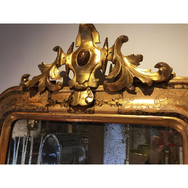 Gold Pair of Venetian Mirrors For Sale - Image 8 of 10