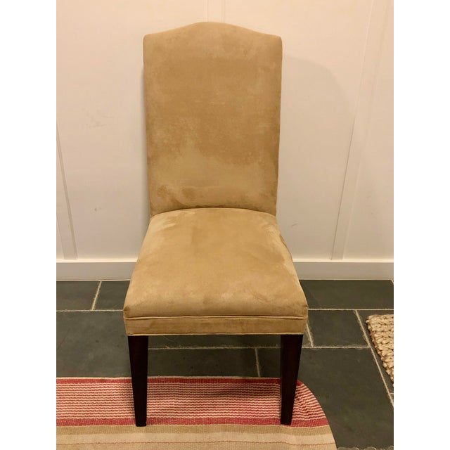 Mitchell Gold Microsuede Side Chairs Elevated Parsons chairs as only MG/BW can do….excellent condition golden wheat...