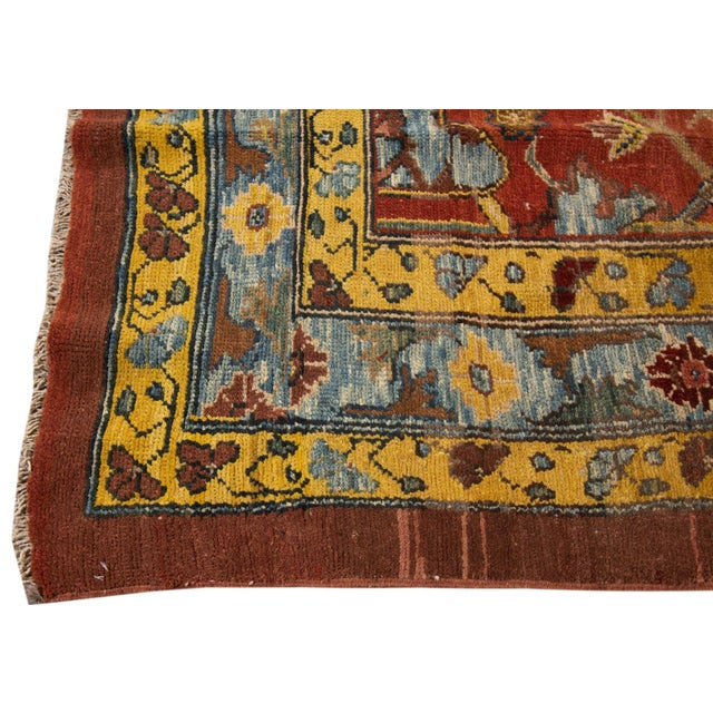 Vintage hand-knotted Persian Tribal Bakshaish Rug with an all over tribal design. This piece has fine details, great...