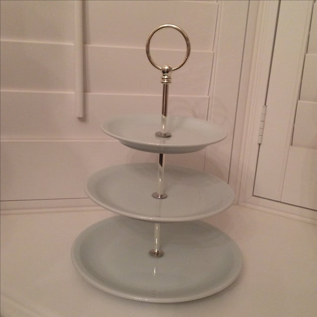 Pillivuyt Porcelain 3-Tiered Cake Stand - Image 6 of 6