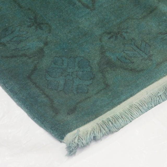 """Leon Banilivi Over-Dyed Green Wool Rug - 6' X 4'3"""" - Image 5 of 5"""