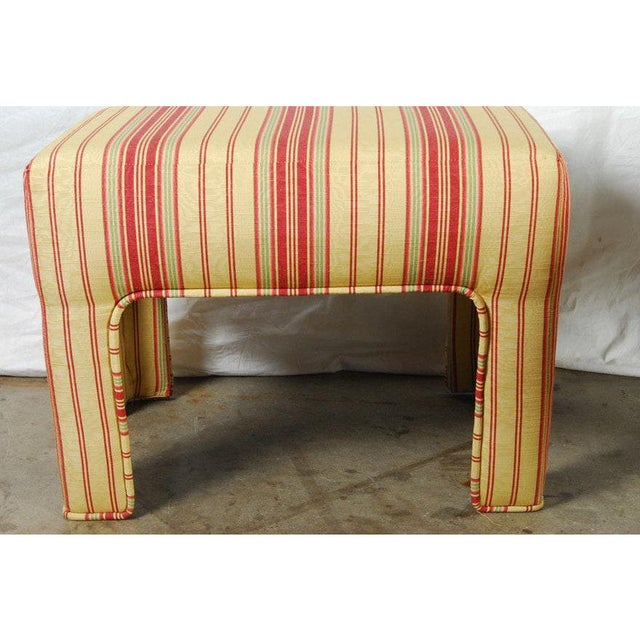 A set of elegant 1970's custom upholstered parsons benches are available for sale in excellent condition. The benches...