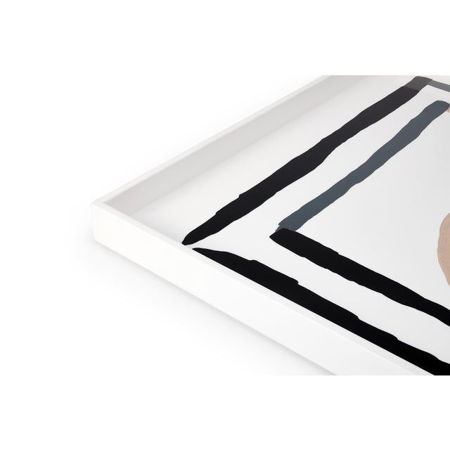 Contemporary Luke Edward Hall Collection Large Etienne Tray in Bright White For Sale - Image 3 of 4