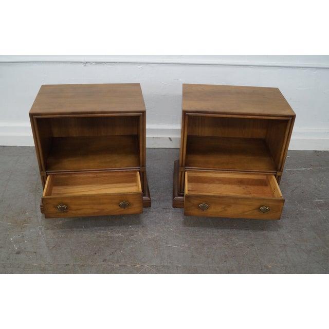 Drexel Plaudit Vintage Walnut Nightstands - Pair For Sale - Image 9 of 10