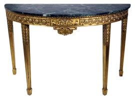 Image of Marble Demi-lune Tables