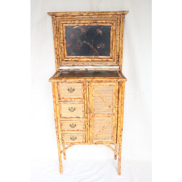 19th Century English Bamboo Vanity Cabinet For Sale - Image 13 of 13