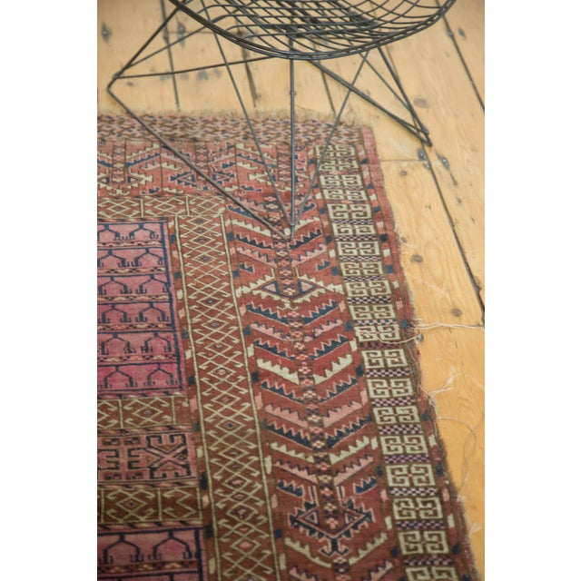 "Antique Turkmen Square Rug - 4'5"" x 4'11"" For Sale - Image 10 of 10"