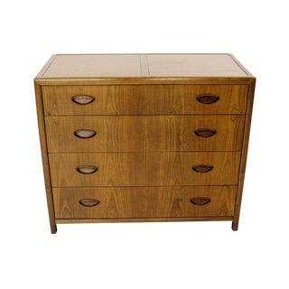 Baker Mid-Century Modern Walnut Bachelor Chest or Dresser For Sale