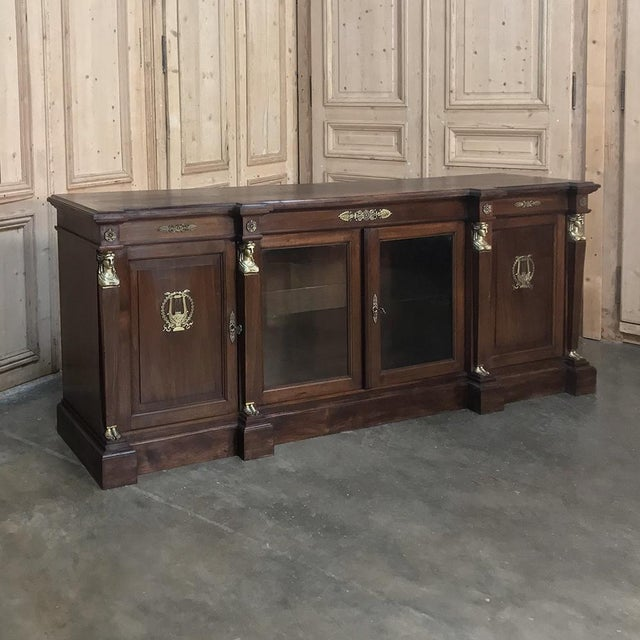 19th Century French Empire Mahogany Credenza With Bronze Ormolu For Sale - Image 12 of 12