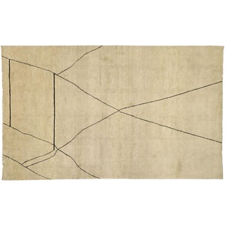 Contemporary Moroccan Area Rug - 09'02 X 15' For Sale