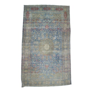 Antique Distressed Persian Tabriz Rug - 10′10″ × 18′4″