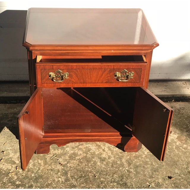 Drexel Heritage Drexel Heritage Chippendale Cherry Wood Nightstand For Sale - Image 4 of 10