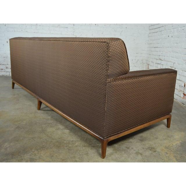 Mid-Century Tufted Tuxedo Sofa on Walnut Base - Image 4 of 10