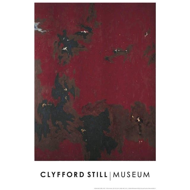 "Clyfford Still Abstract Expressionist ""Ph - 385 ""Lithograph Print Poster, 1949 For Sale"