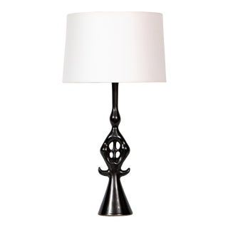 Roger Capron Lampe Noire Ceramic Table Lamp For Sale