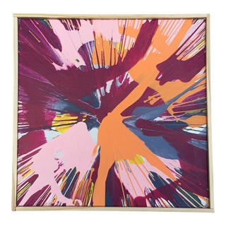 Abstract Color Field Framed Contemporary Painting For Sale