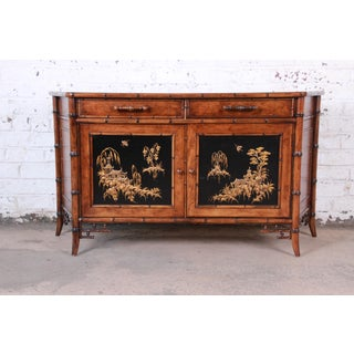 Century Furniture Hollywood Regency Chinoiserie Faux Bamboo Credenza, Made in Italy Preview