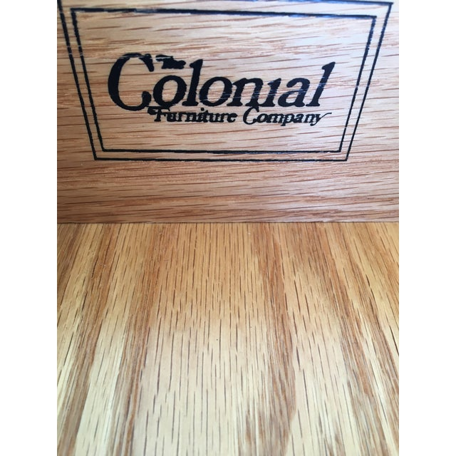 Wood Colonial Furniture Cherry Chippendale Style 3 Drawer Nightstands - a Pair For Sale - Image 7 of 8