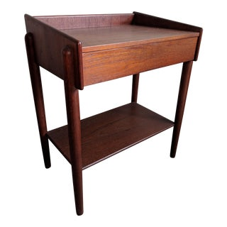 1950's Borge Mogenson Teak Bedside Table For Sale