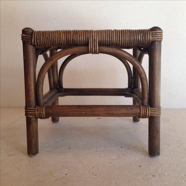 Cane & Wicker Stool - Image 2 of 4