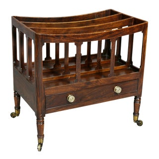 Regency Rosewood and Faux Rosewood Canterbury For Sale