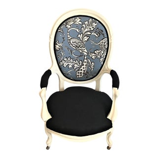 19th Century Casa De La Rioja Upholstery Balloon Back Chair For Sale