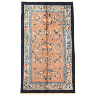 Early 20th Century Antique Chinese Peking Hand-Knotted Rug - 4′ × 7′ For Sale