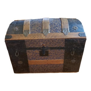 Early 20th Century Dome Top Trunk For Sale