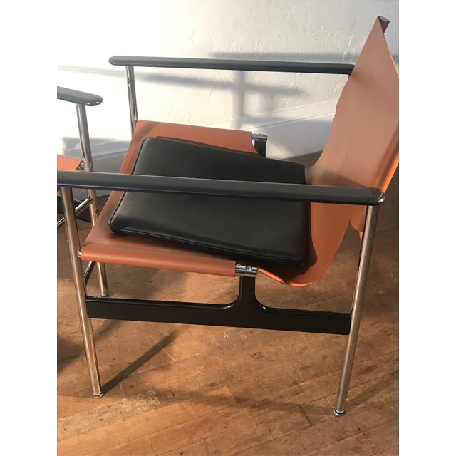 Charles Pollock for Knoll 657 Sling Lounge Chairs- a Pair For Sale - Image 10 of 12