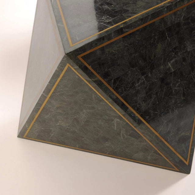 1980s Octahedron Tessellated Marble Side Tables For Sale - Image 9 of 10