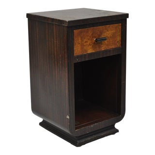 Early 20th Century Antique Norman Bel Geddes for Simmons Art Deco Nightstand For Sale