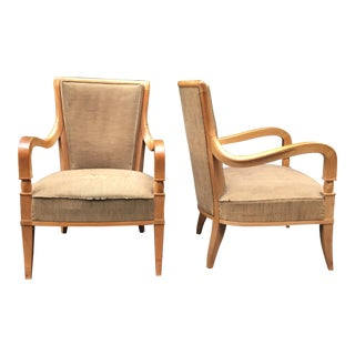André Arbus (1903-1969), Pair of Fireside Chairs, Circa 1940 For Sale