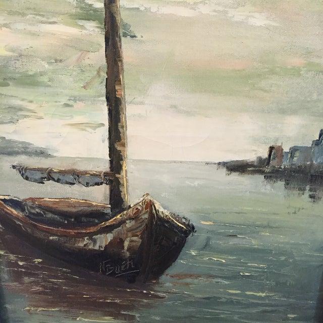 Original Oil Painting of Schooner by N. Bueti - Image 3 of 5
